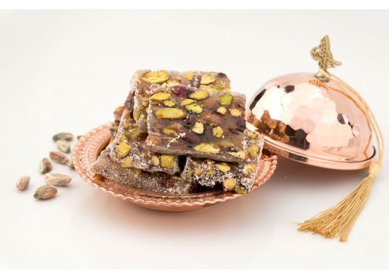 Sliced Turkish Delight with Pistachio