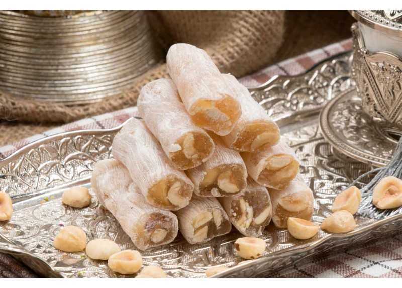 Finger Turkish Delight with Hazelnut